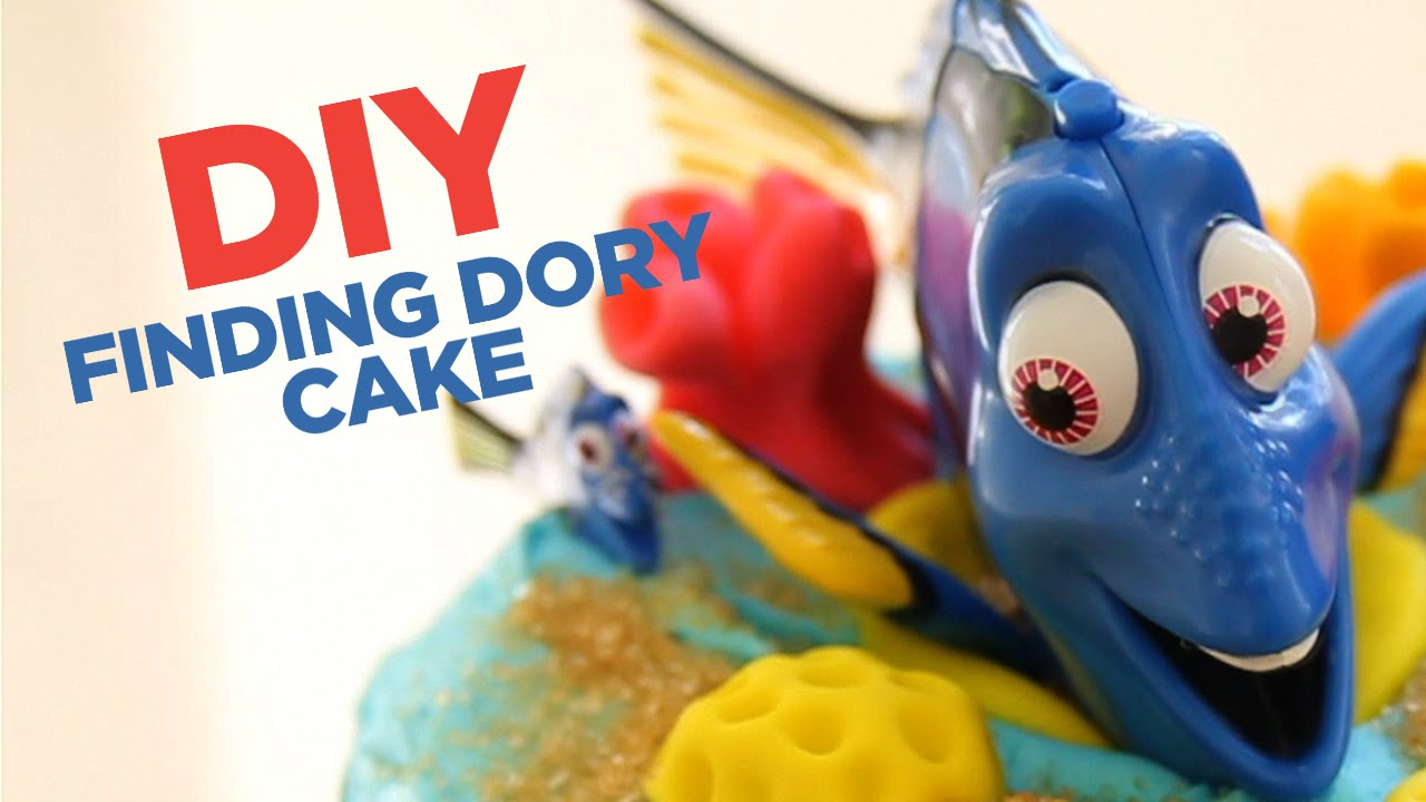 FINDING DORY and NEMO CAKE How to make a Disney Finding Dory Movie