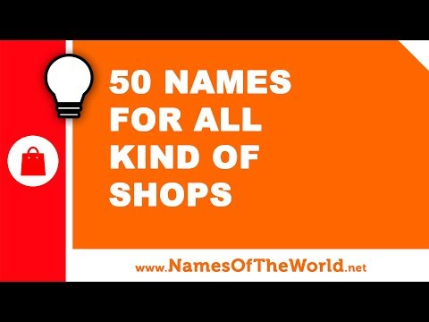 50 Names For All Kind Of Clothing Shops - The Best Names For Your Company - Www.namesoftheworld.net