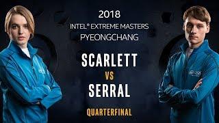 StarCraft II - Scarlett [Z] vs.Serral [Z] - Quarterfinal - IEM PyeongChang [1/2]