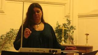 Исполнение на терменвоксе и органе музыки из фильма Ромео и Джульетта