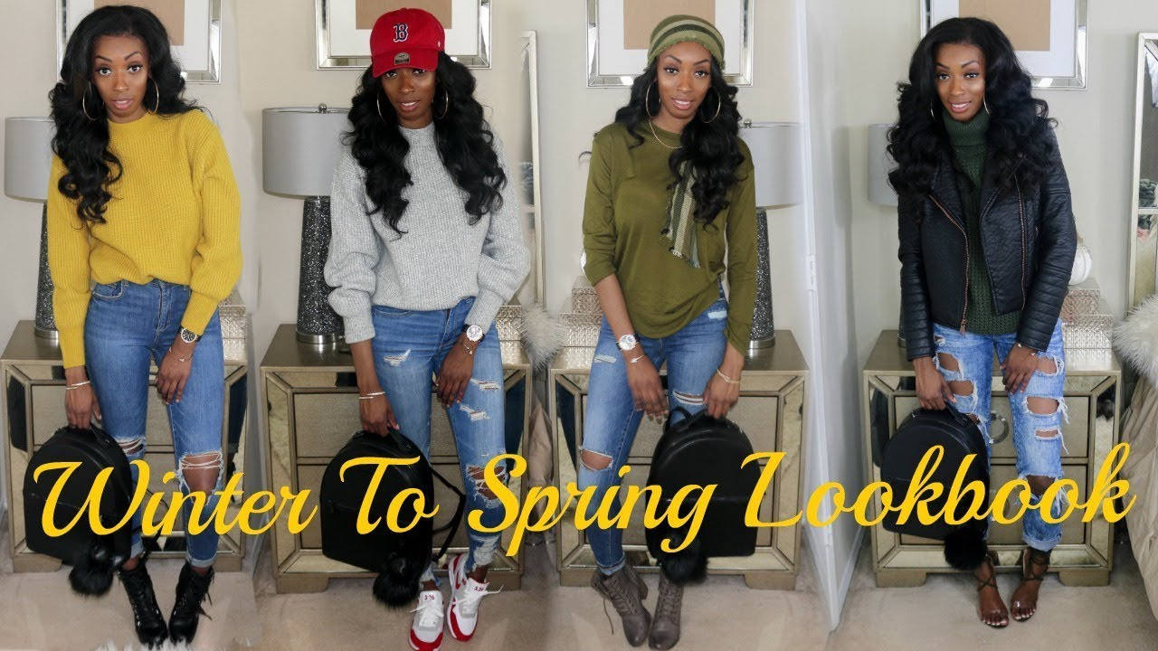 [VIDEO] - H&M, Garage Clothing and Etc Try On Haul! Winter to Spring Lookbook! Spring 2018 Clothing Haul! 7