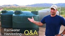 Rainwater Harvesting QA - Cost, is it Illegal, how I treat, etc,.