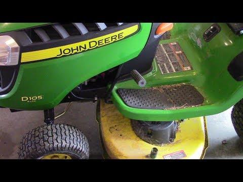 John Deere D105 Replacement Of Mower Blades