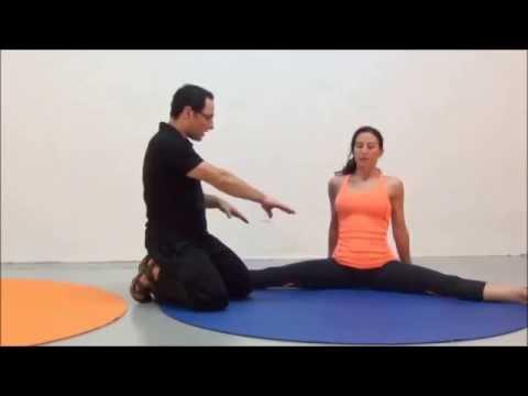 stretching exercises balance system side split straddle