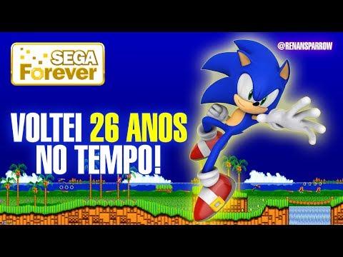 VOLTEI 26 ANOS NO TEMPO! - Sonic, The Hedgehog (Sega Forever) #01