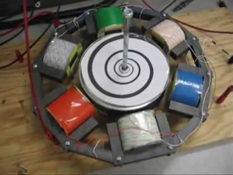 Three phase ac induction motor demonstration youtube for Three phase induction motor