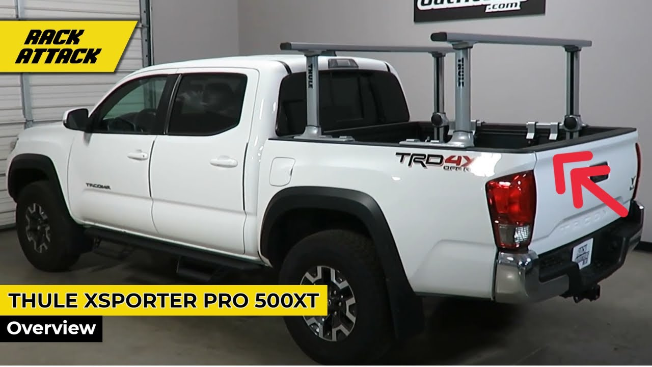 toyota tacoma short bed with thule xsporter pro 500xt truck bed rack with xk4 brackets