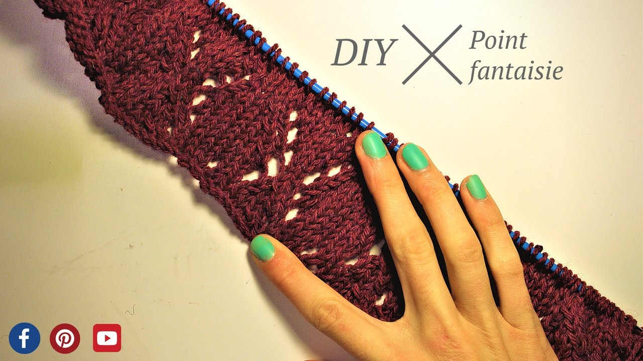 Apprendre a tricoter diy point fantaisie losanges - Point fantaisie au tricot ...