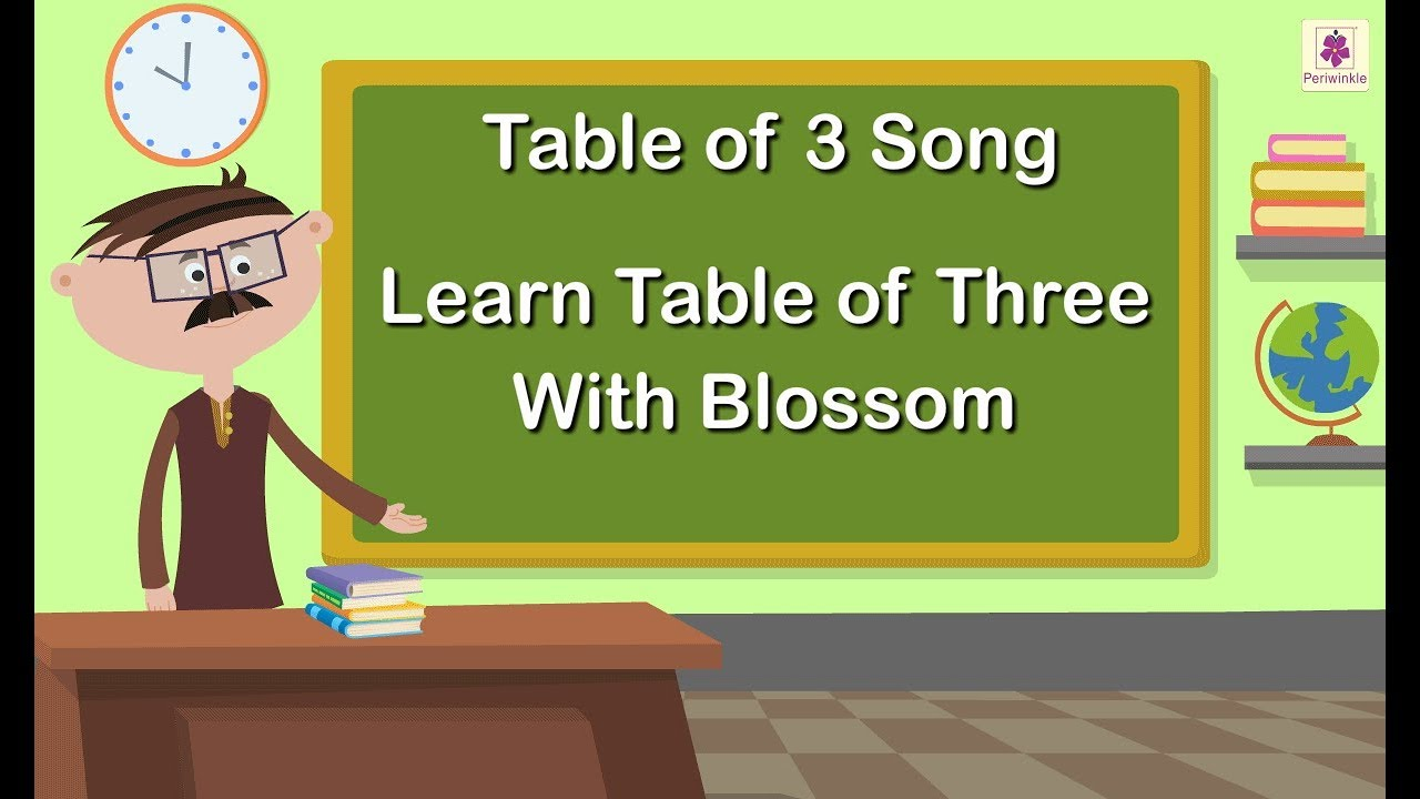 Table of 3 Song | Learn Table of Three With Blossom | Maths Concept For  Kids | Grade 1 | Vid #9