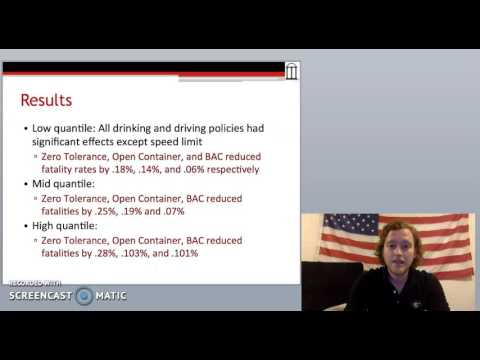 """Reid Powell on the """"Effectiveness of Drinking and Driving Policy"""""""