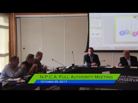 NPCA Full Authority Meeting - October 25, 2017