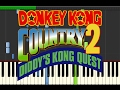 Donkey Kong Country 2 Diddys Kong Quest   Forest Interlude  Piano