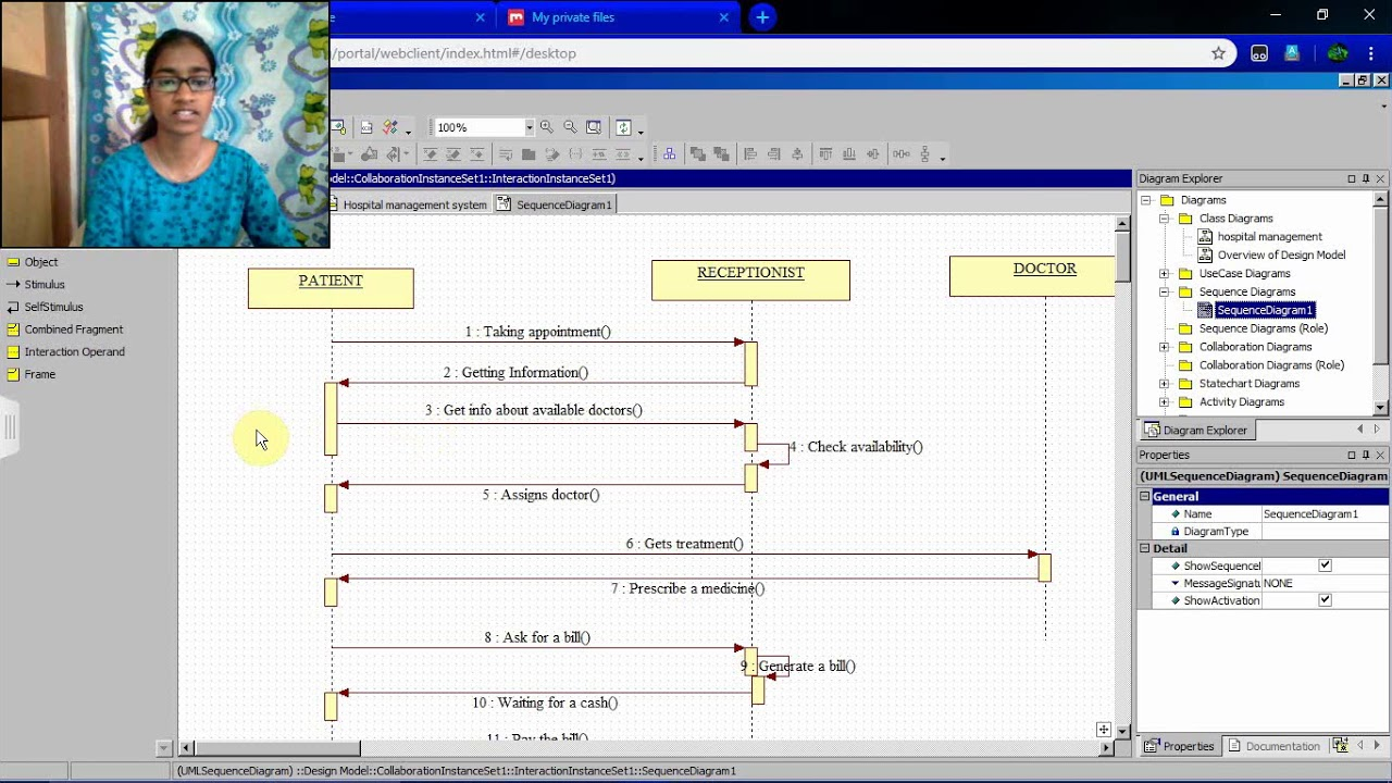 hight resolution of sequence diagram for hospital management system