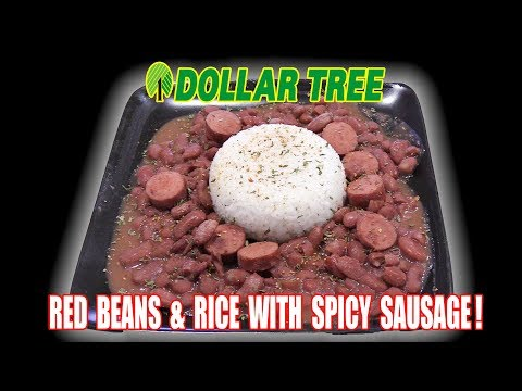 Dollar Tree Red Beans and Rice with Spicy Sausage - How To Feed a Crowd on a BUDGET! - The Wolfe Pit