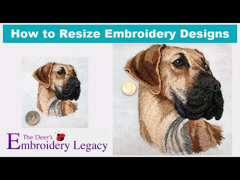 How To Properly Resize Embroidery Designs