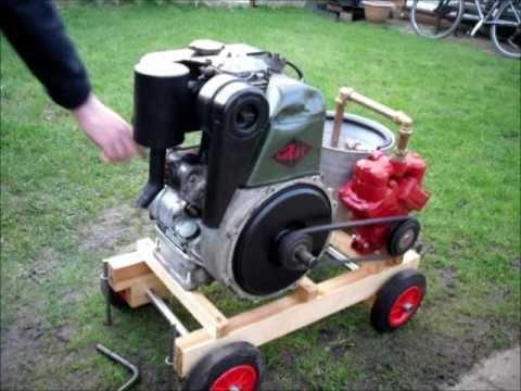 how to start a seized diesel engine