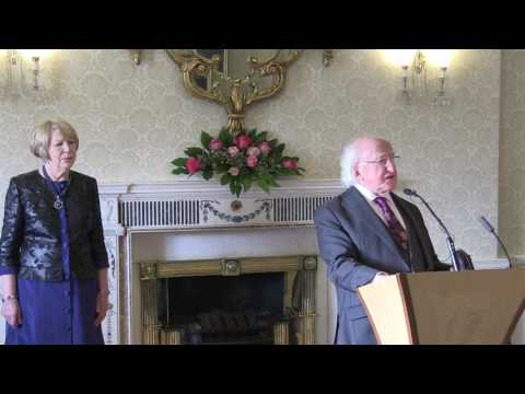Speech by President Higgins at a reception to celebrate Inte