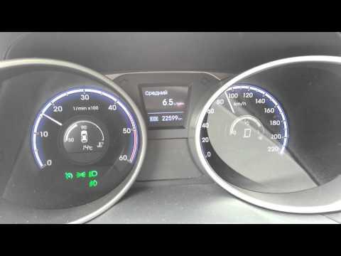 Средний расход дизельного Hyundai ix35 2.0 CRDI на разных скоростях.