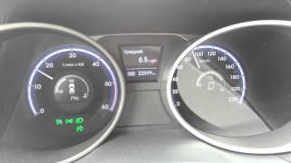 Средний расход дизельного Hyundai ix35 2.0 CRDI на разных скоростях. смотреть