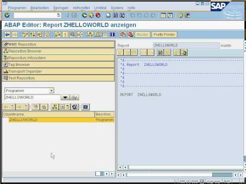 Mein erster ABAP - Hello World in ABAP IV