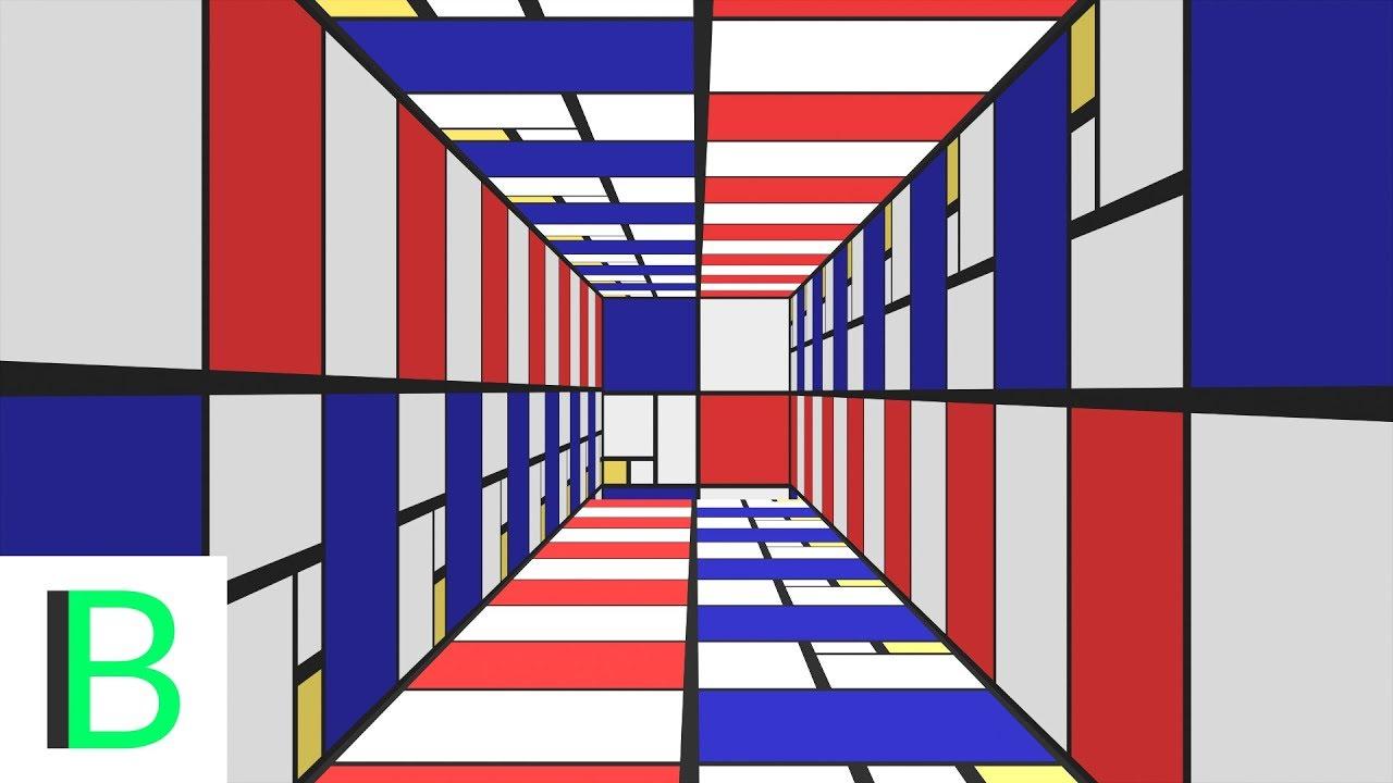 Mondriaan Maze Abstract Animation