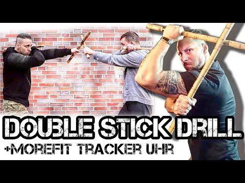 Double Stick Training Drill & Fitness Tracker Uhr | KAMPFKUNST LIFESTYLE