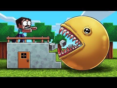 Minecraft | KILLER PACMAN BASE CHALLENGE! (Base vs Pacman.EXE)