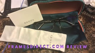 Review Gucci eyewear from framesdirect.com
