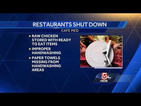 Boston restaurants shut down