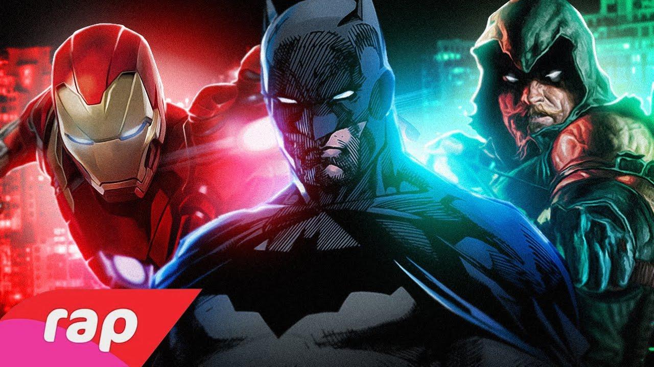 Rap do Homem de Ferro, Batman e Arqueiro Verde - SEM PODERES | NERD HITS