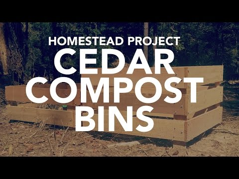 CEDAR COMPOST BIN - DIY Homestead Projects
