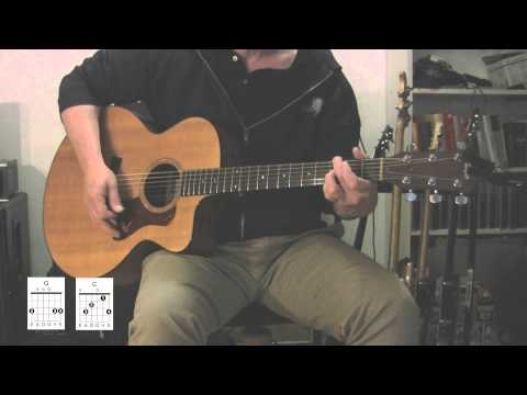 """Under Pressure"" Acoustic guitar with original vocal track, How to play"