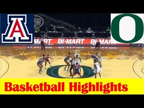 Arizona vs Oregon Basketball Game Highlights 3 1 2021