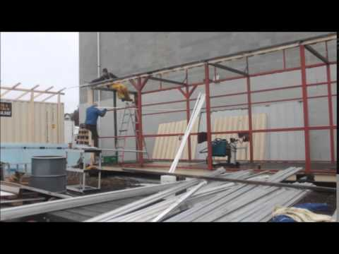 40 ft container grow room grow tent shipping container greenhouse build time lapse youtube