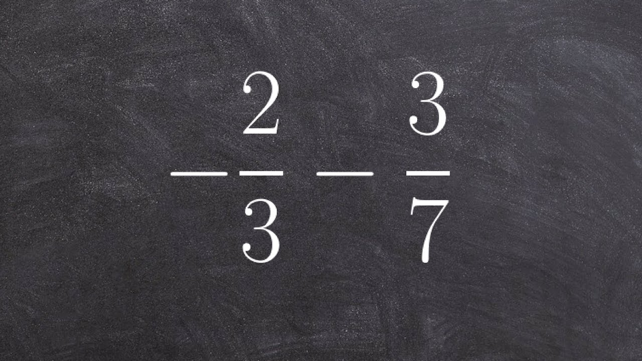 Tutorial  Easy Way To Subtract Two Fractions With Unlike Denominators To  Determine The Difference