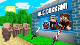 FAKİR KÖYDE KILIÇ DÜKKANI AÇTI! 😱 - Minecraft