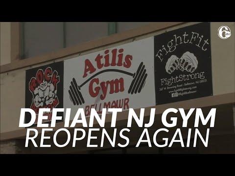 Defiant New Jersey gym again opens despite closure order amid virus