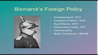 L 11,Bismark Foreign Policy  World History for UPSC/IAS/CSE Mains Paper 1