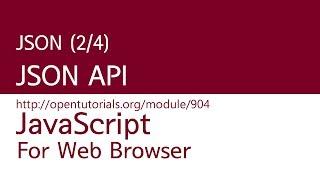 JavaScript - JSON (2/4) : API