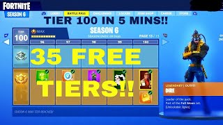 GET 35 FREE TIERS/TIER 100 INSTANTLY *Glitch*| FORTNITE BATTLE ROYALE(Patched)