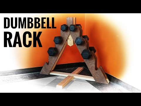 Make a Dumbbell Rack from Scrap Wood