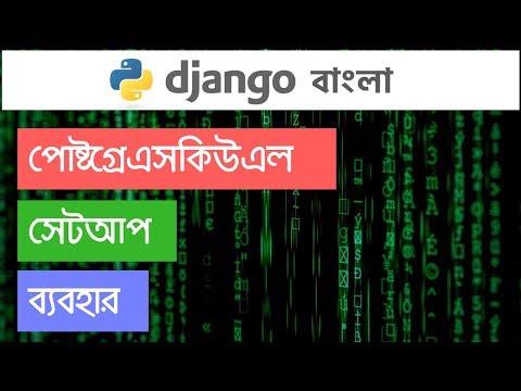 Python Django Bangla Tutorial: PostgreSQL Setup and Usage #5