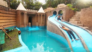 My Summer Holiday 155 Days Building 1M Dollars Water Slide Park into Underground Swimming Pool House