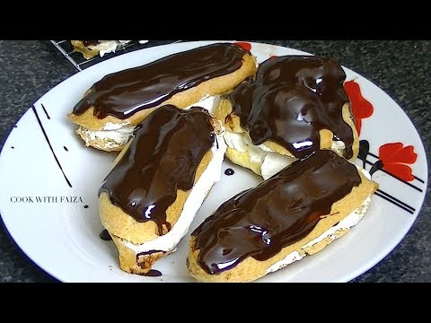 CREAM PUFF OR CHOCOLATE ECLAIRS *COOK WITH FAIZA*