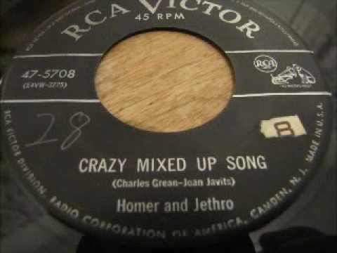 """""""Crazy Mixed Up Song"""" ( Be Kind to Your Web Footed Friends) - Homer and Jethro"""