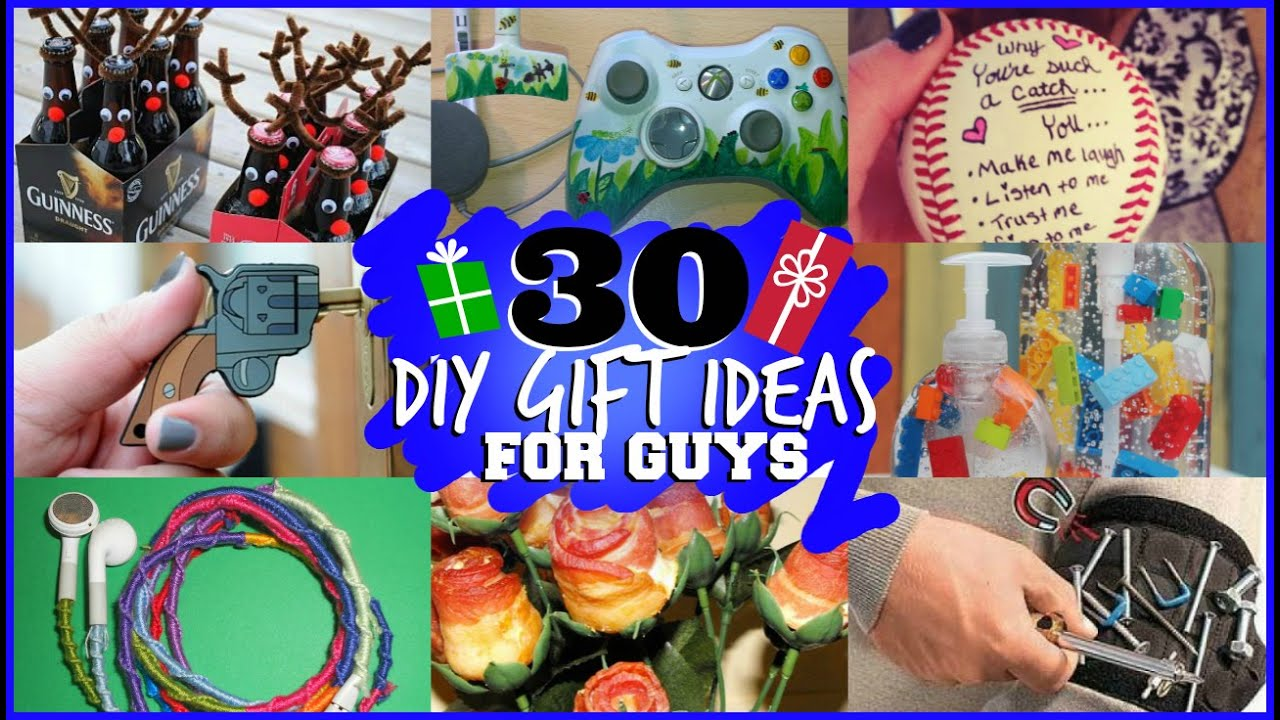 30 DIY GIFT IDEAS FOR GUYS (they will actually like) - YouTube