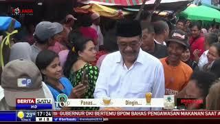 Djarot Bersama Istri Blusukan ke Pasar Simpang Limun Medan