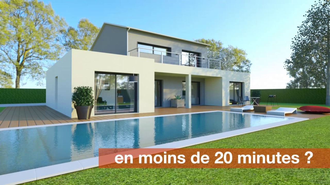 Logiciel plan 3d maison cedreo youtube for Maison en 3d