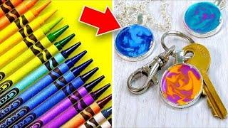 19 Colorful Crayon Crafts