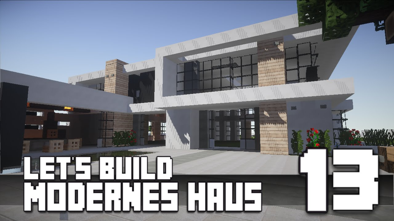 minecraft modernes haus bauen 13 teil 2 3 tutorial. Black Bedroom Furniture Sets. Home Design Ideas